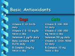 basic antioxidants