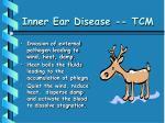 inner ear disease tcm