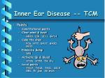 inner ear disease tcm42