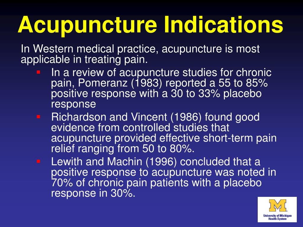 Acupuncture Indications