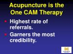 acupuncture is the one cam therapy