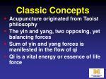 classic concepts