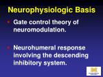 neurophysiologic basis