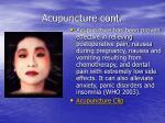 acupuncture cont