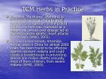 tcm herbs in practice