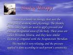 shiatsu therapy