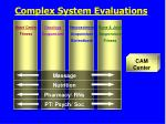 complex system evaluations
