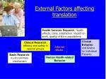 external factors affecting translation