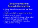 integrative pediatrics research opportunities22