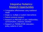 integrative pediatrics research opportunities45