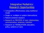 integrative pediatrics research opportunities50