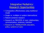 integrative pediatrics research opportunities52