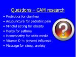 questions cam research