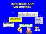 translational cam opportunities