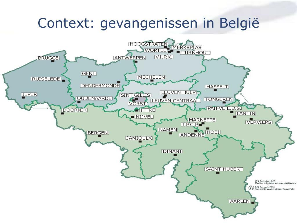 Context: gevangenissen in België