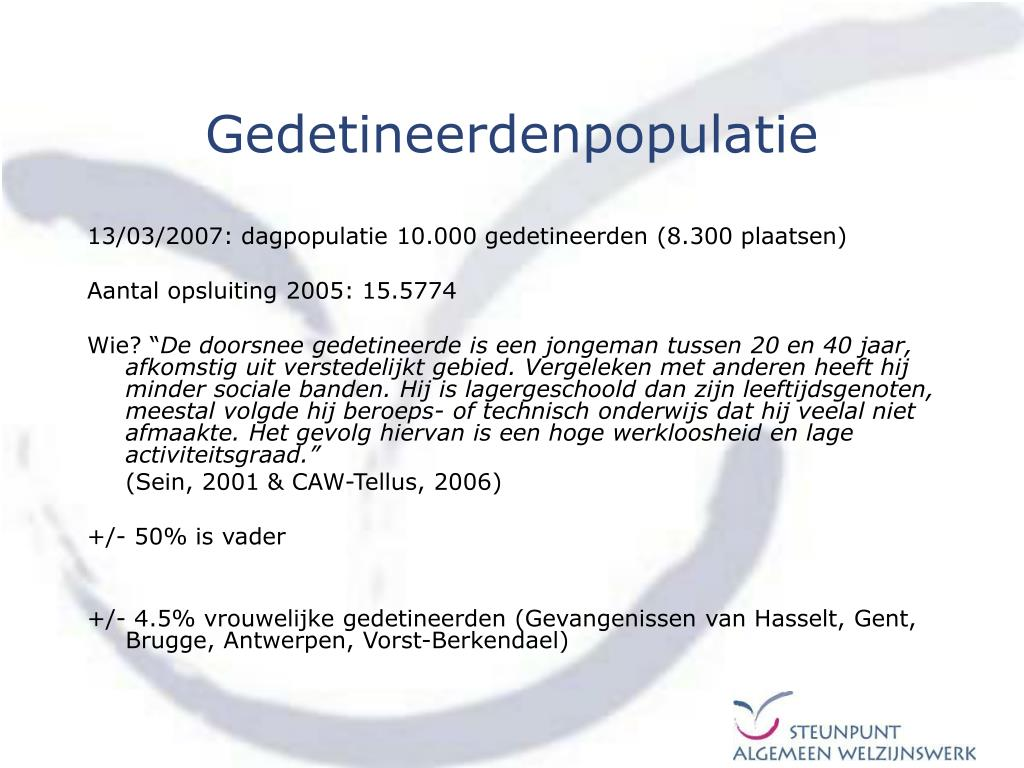 Gedetineerdenpopulatie