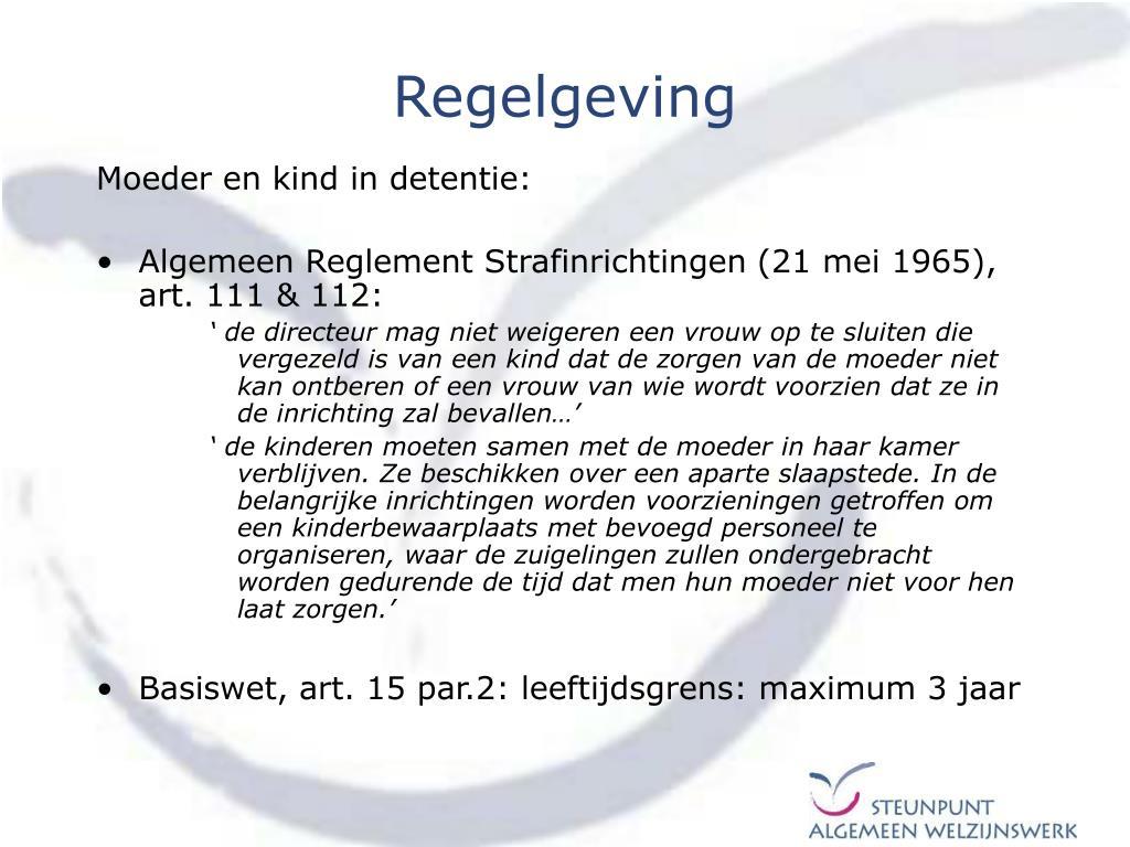 Regelgeving