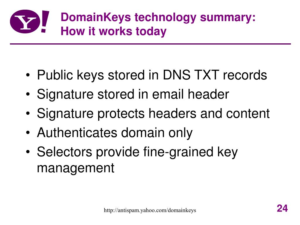 DomainKeys technology summary: How it works today
