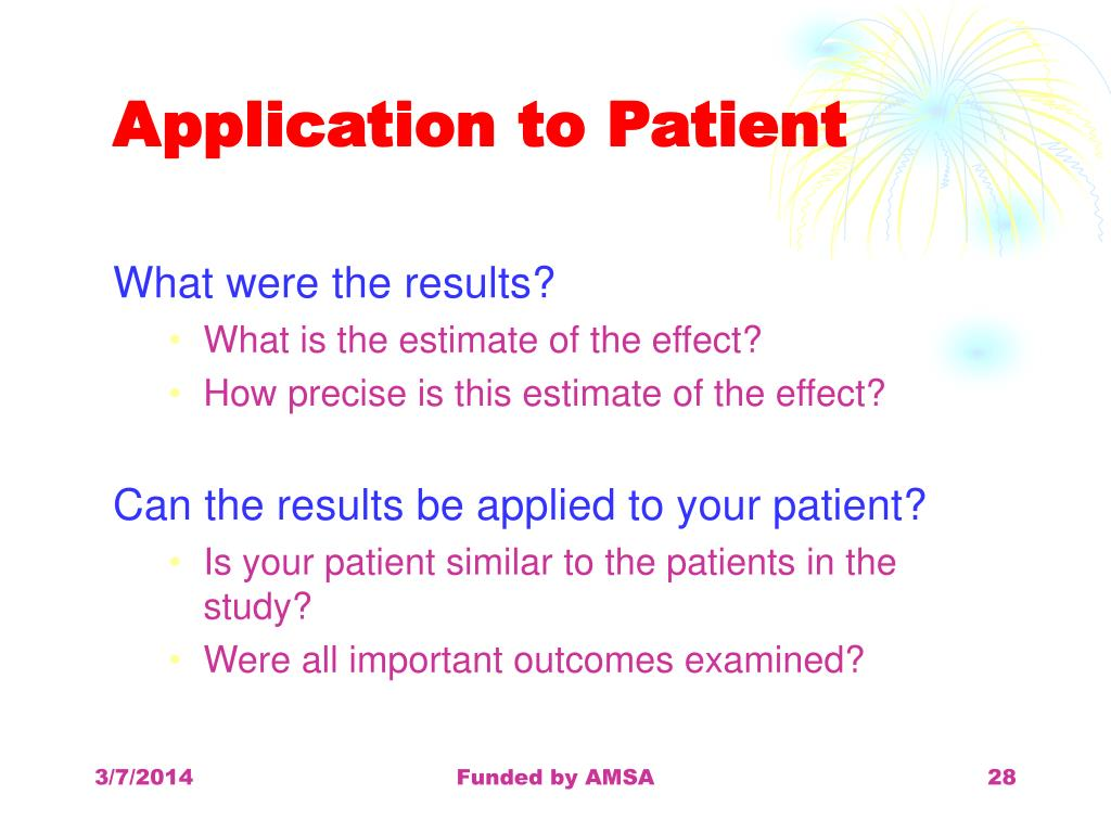 Application to Patient