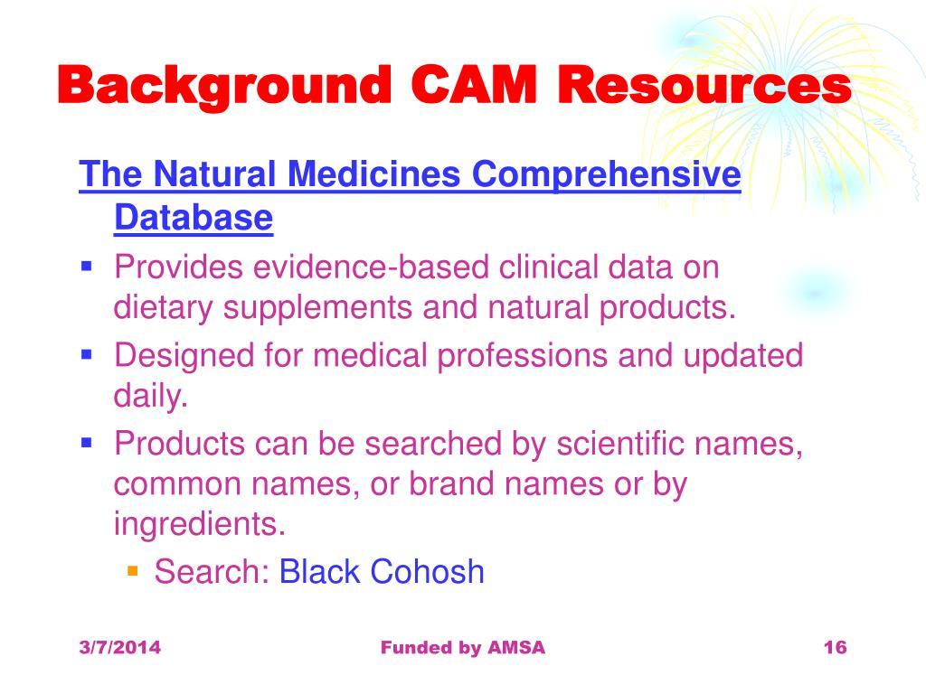 Background CAM Resources