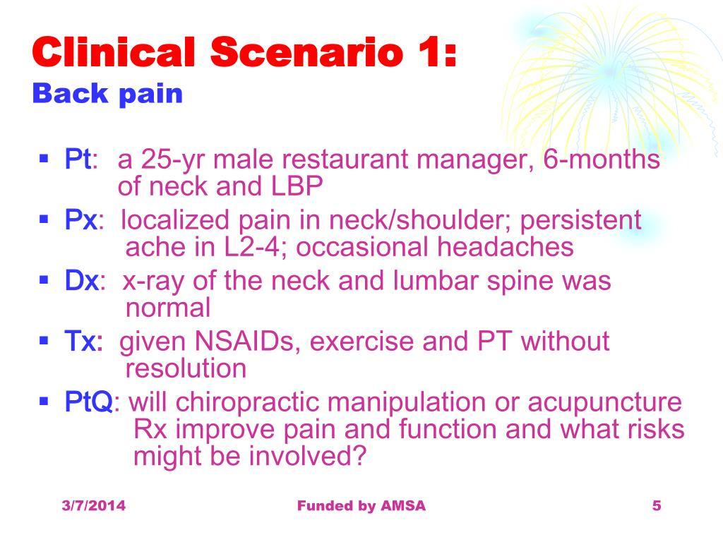 Clinical Scenario 1: