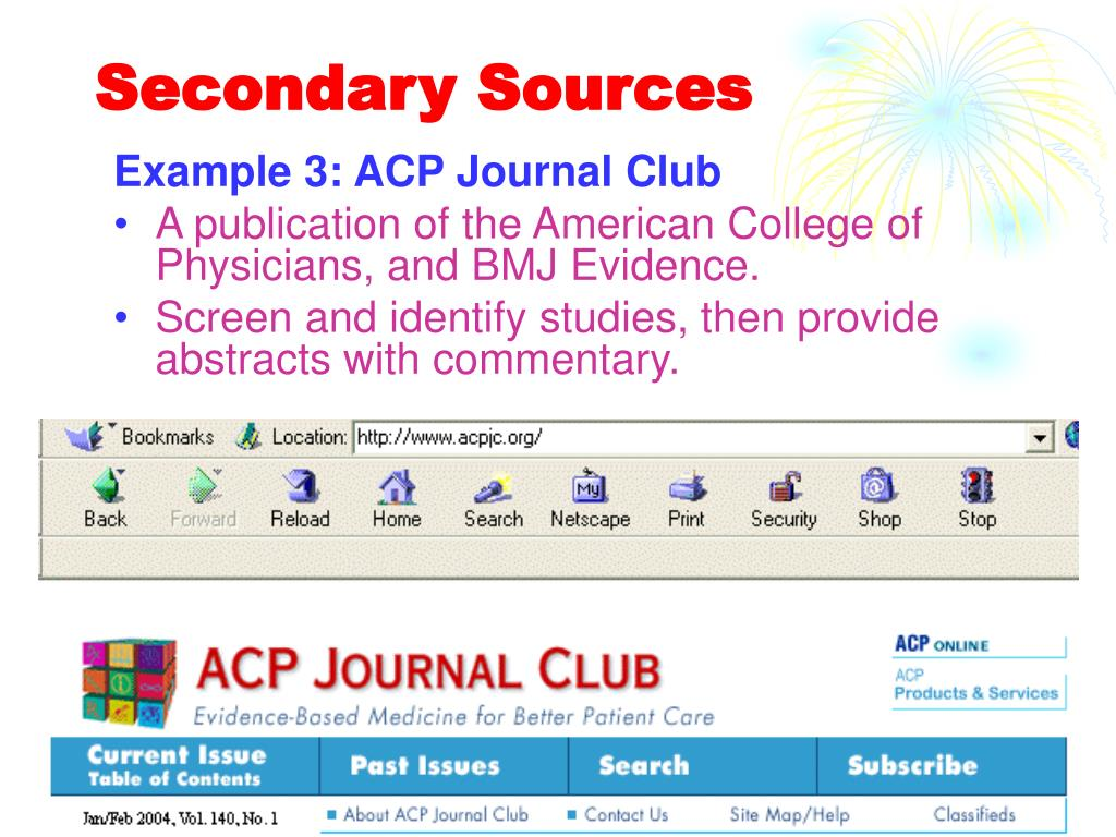 Secondary Sources