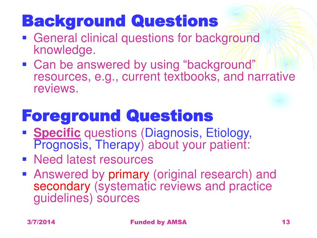 Background Questions