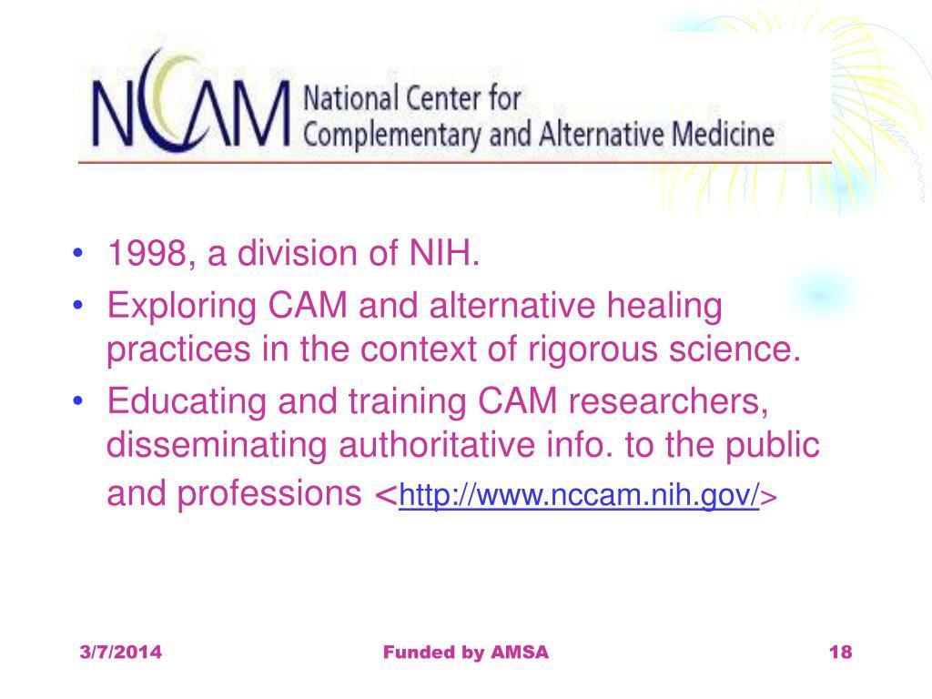 1998, a division of NIH.