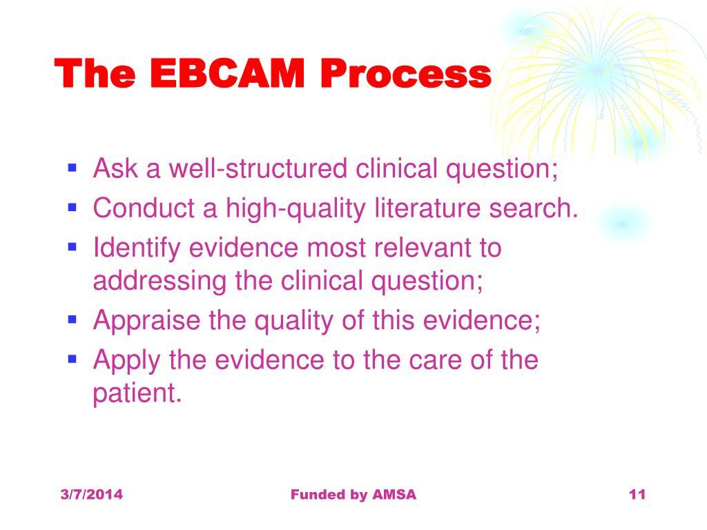 The EBCAM Process
