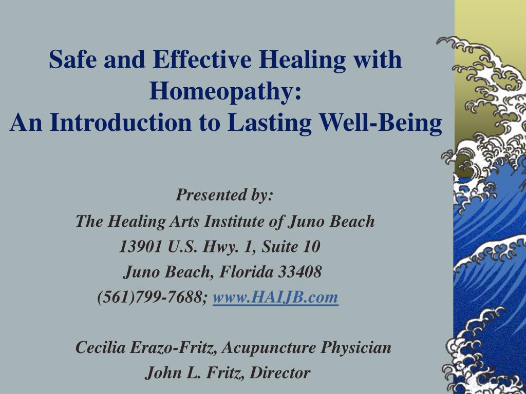 safe and effective healing with homeopathy an introduction to lasting well being l.