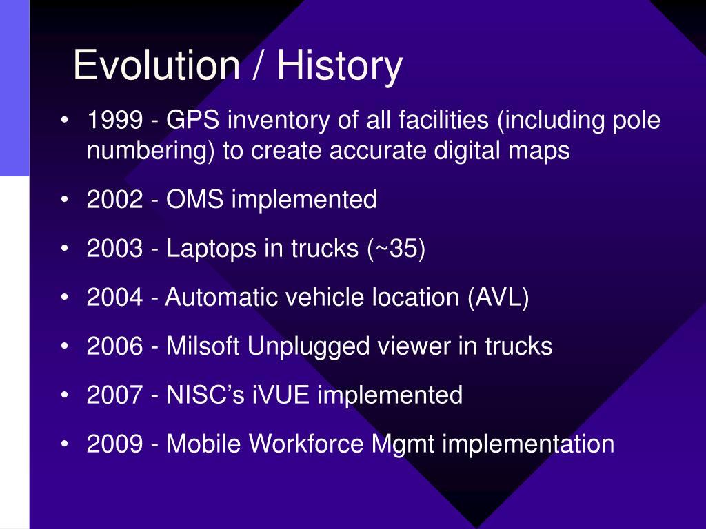 Evolution / History