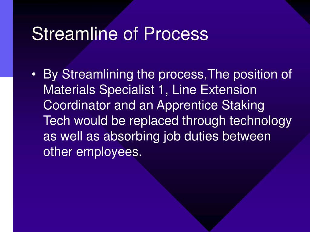 Streamline of Process