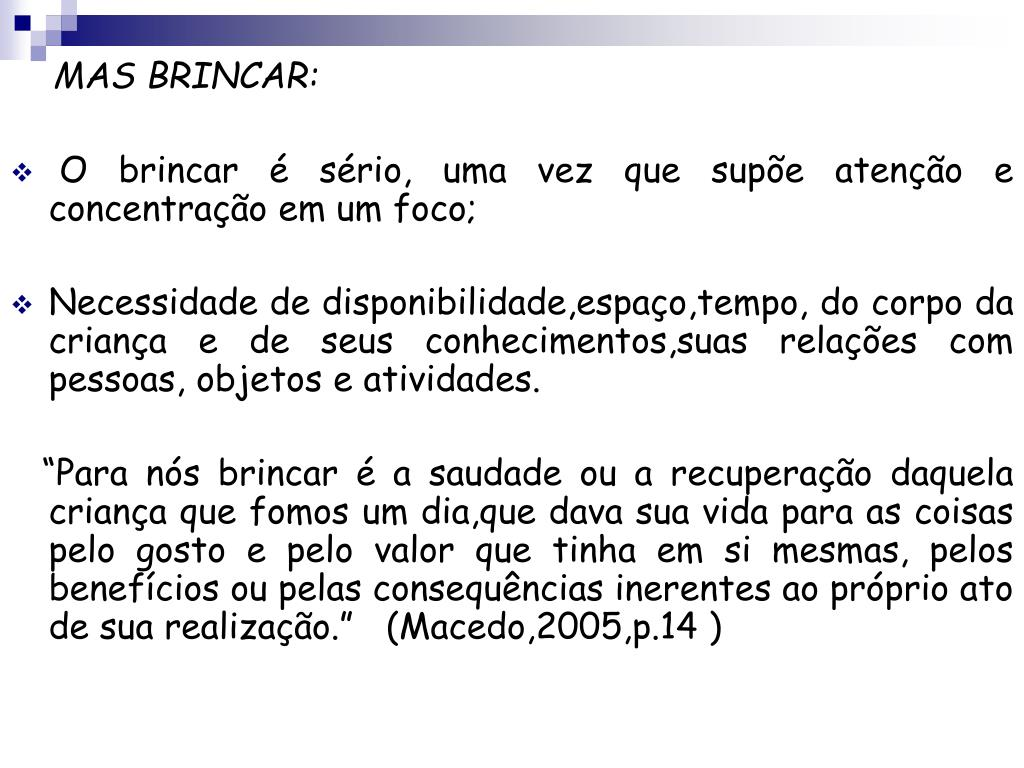 MAS BRINCAR:
