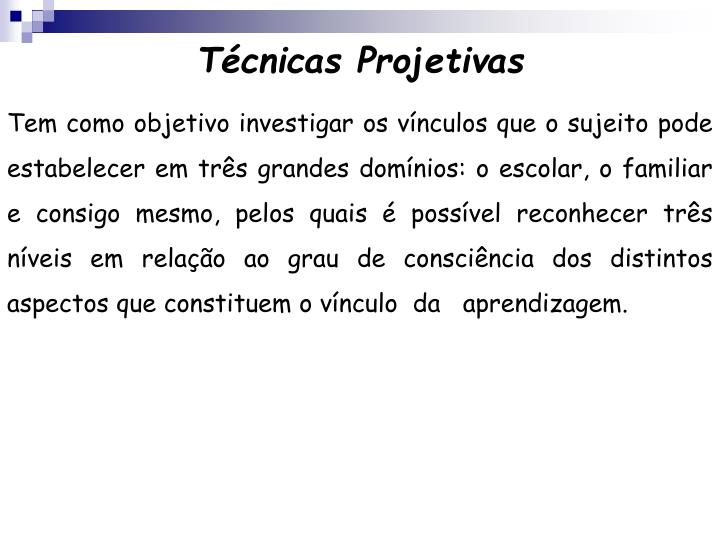T cnicas projetivas