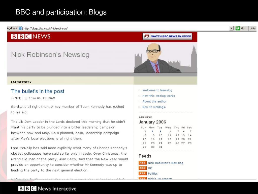 BBC and participation: Blogs