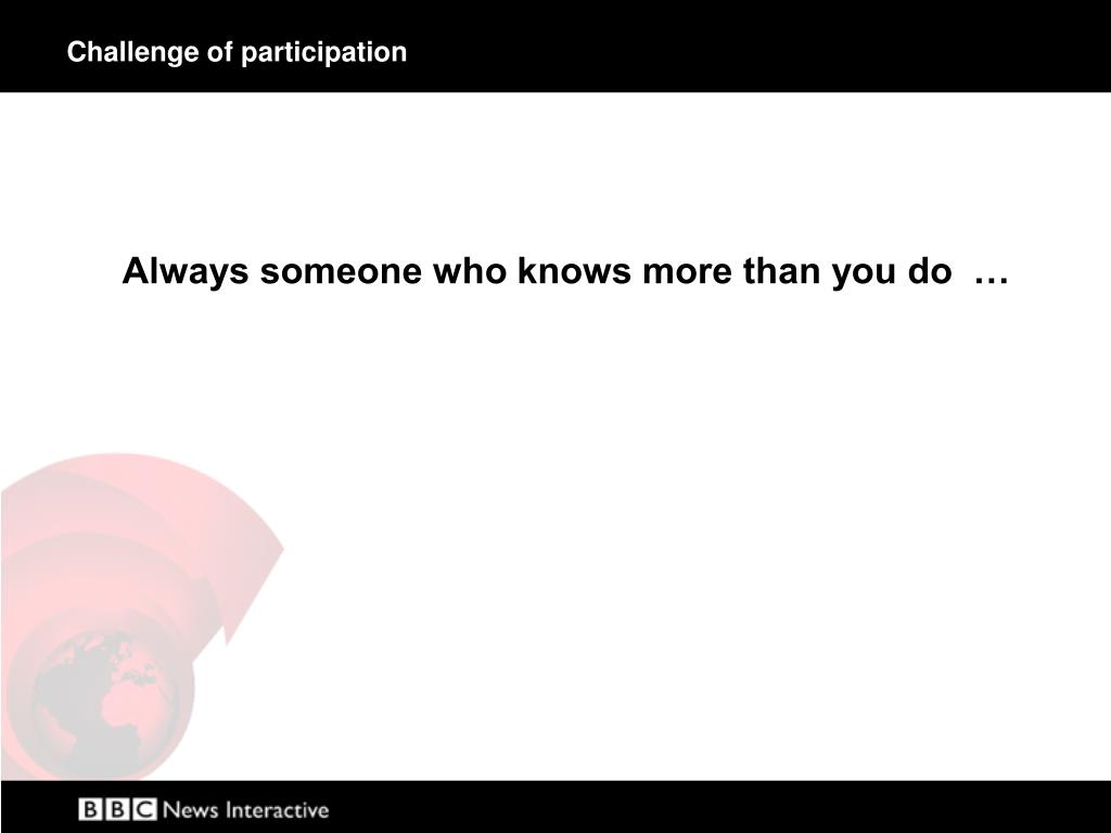 Challenge of participation