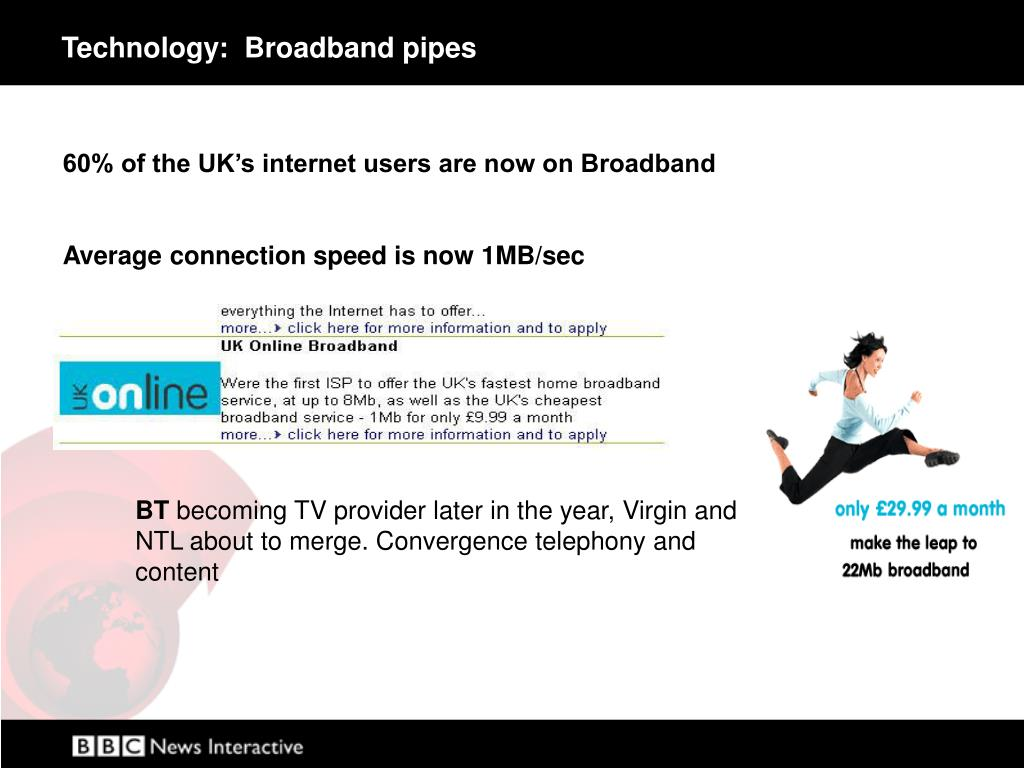 Technology:  Broadband pipes