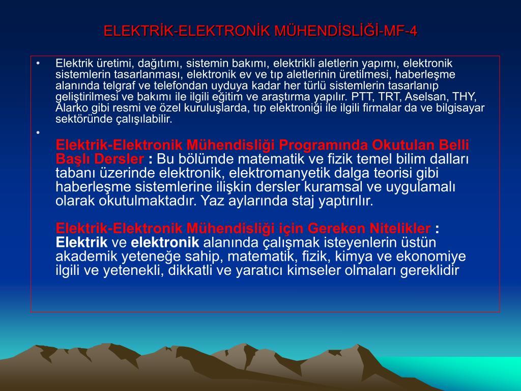 ELEKTRİK-ELEKTRONİK MÜHENDİSLİĞİ-MF-4