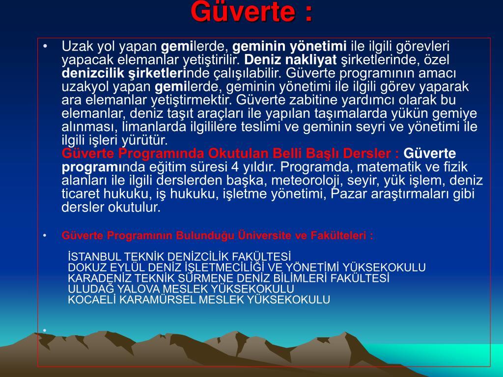 Güverte :