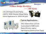3 phase bridge rectifiers mt series