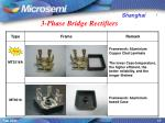 3 phase bridge rectifiers