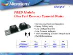 fred modules ultra fast recovery epitaxial diodes
