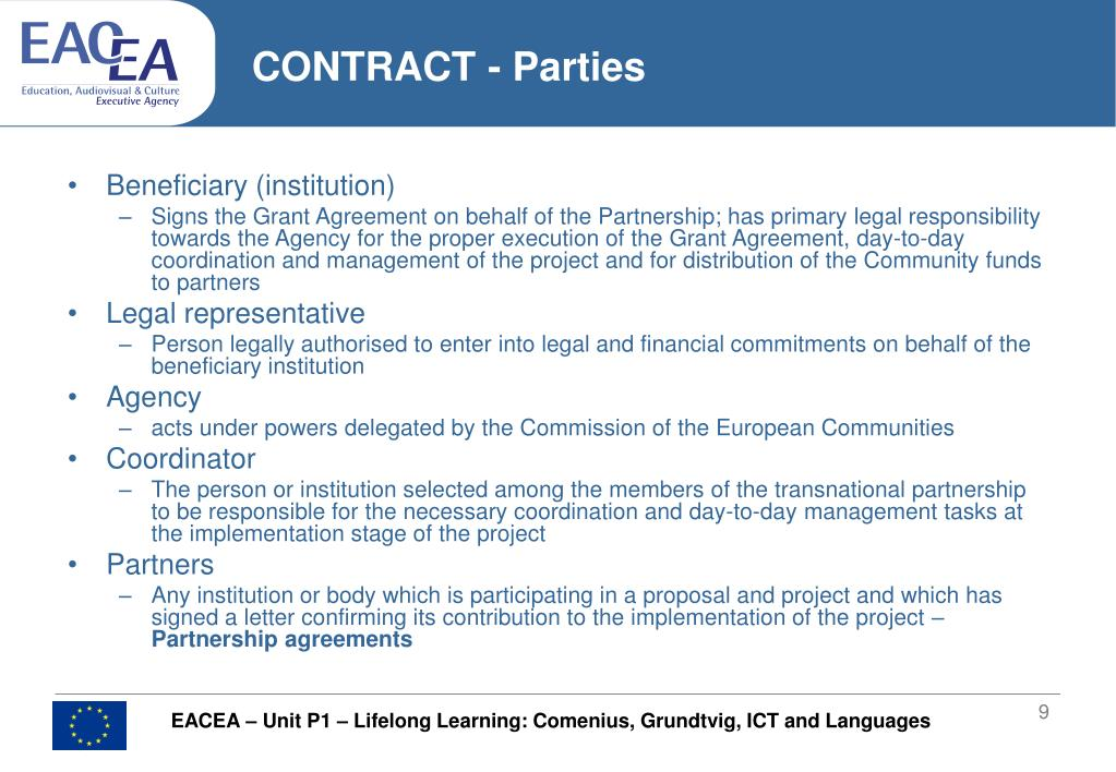CONTRACT - Parties