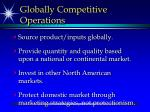 globally competitive operations