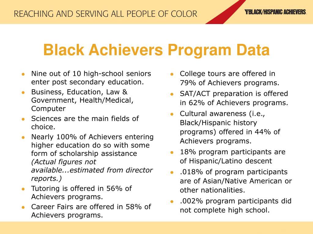 Black Achievers Program Data