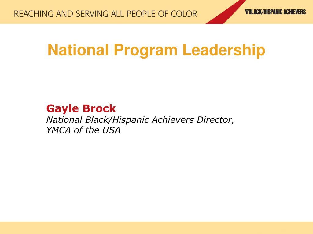 National Program Leadership