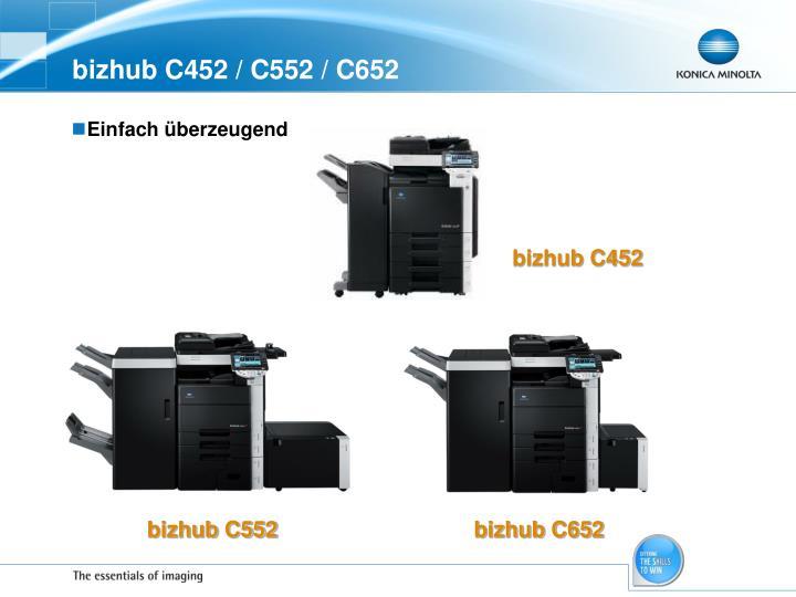Bizhub c452 c552 c6522