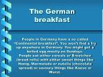 the german breakfast