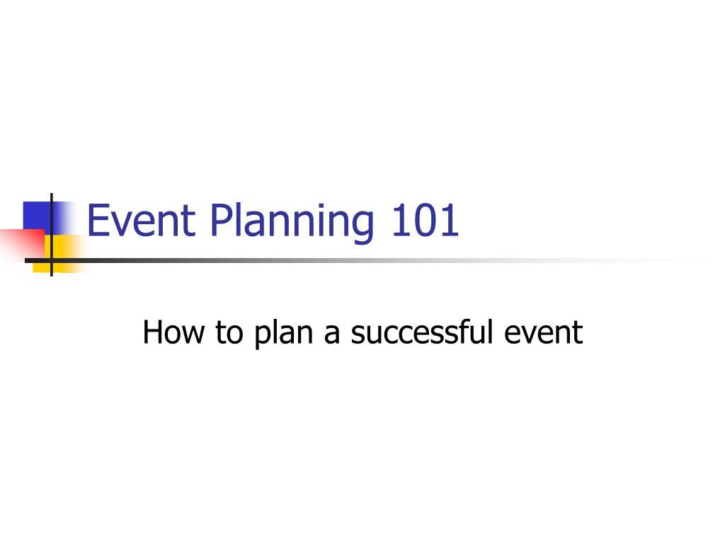 event planning 101 l.