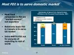 most fdi is to serve domestic market